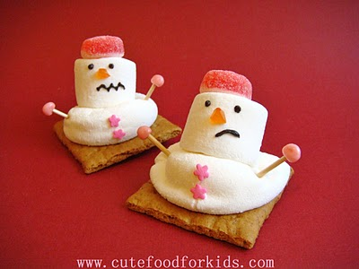 Melting Snowmen by Cute Food For Kids