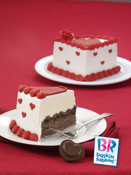 Slices Of Ice Cream Cake From Baskin Robbins
