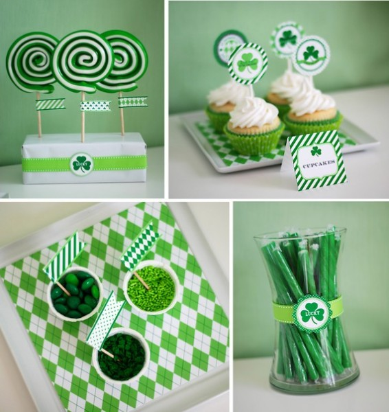 Anders Ruff St.Patrick's Day Party Printables Dessert Table