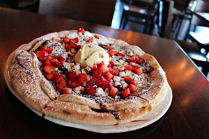 Chocolate Pizza at Due Forni - Las Vegas