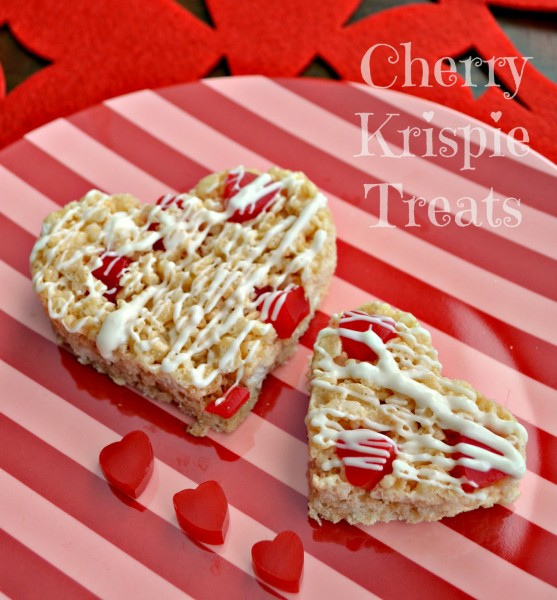 Cherry Krispie Treats