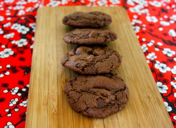 double chocolate chip gluten free cookies