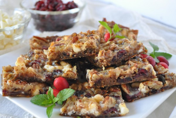 Cranberry and White Chocolate Bars