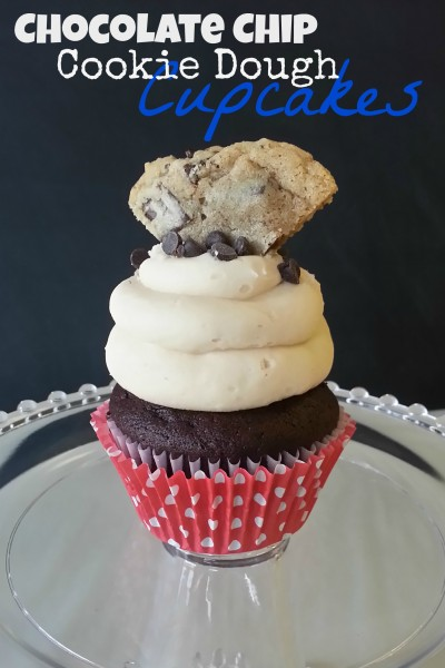 choc chip cookie dough cupcakes