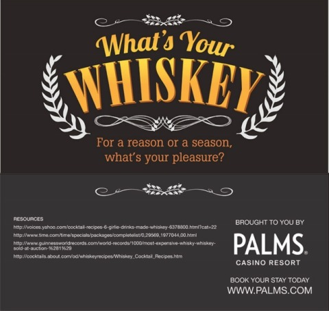 "The Palms ""Whats Your Whiskey"" recipes"