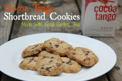 Cocoa Tango Shortbread Cookies Made with Good Earths Tea