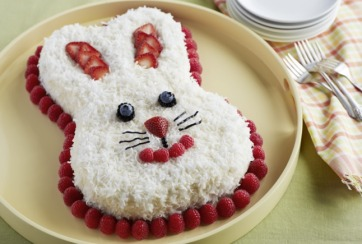 So Cute Easter Bunny Cake Recipe @driscollsberry