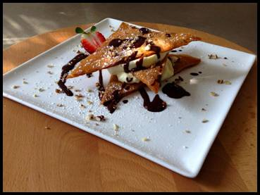 Lemon Mousse Napoleons with Chocolate Sauce Recipe by Paulding and Co