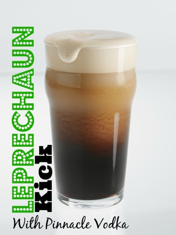 Post image for The Leprechaun Kick – Beer and Vodka by Pinnacle Vodka @PinnacleVodka