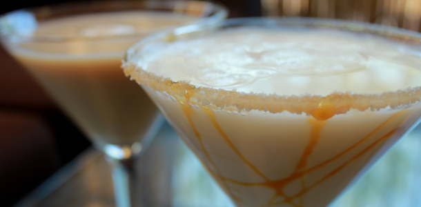 Sweet New Salted Caramel Coffee Martini @realbeanz