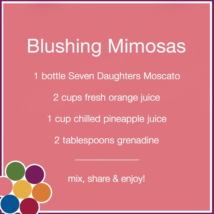 Seven Daughter Blushing Mimosas Moscato Recipe