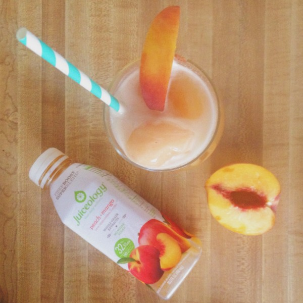 Celebrate National Peach Month with the Peach Mango Ginger Float from Juiceology!!