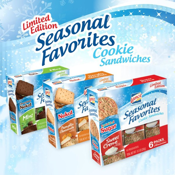 Enjoy The Holiday Season with REAL Cookie Sandwiches from Lance!!!