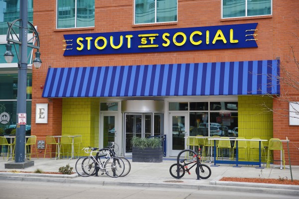 Stout Street Social interiors and menu items