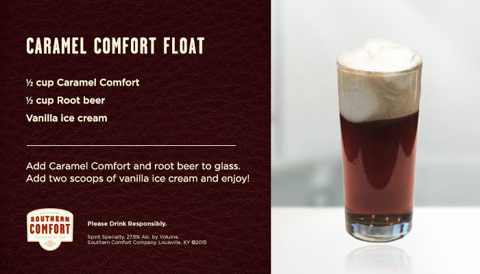 Caramel Comfort Float Recipe Card