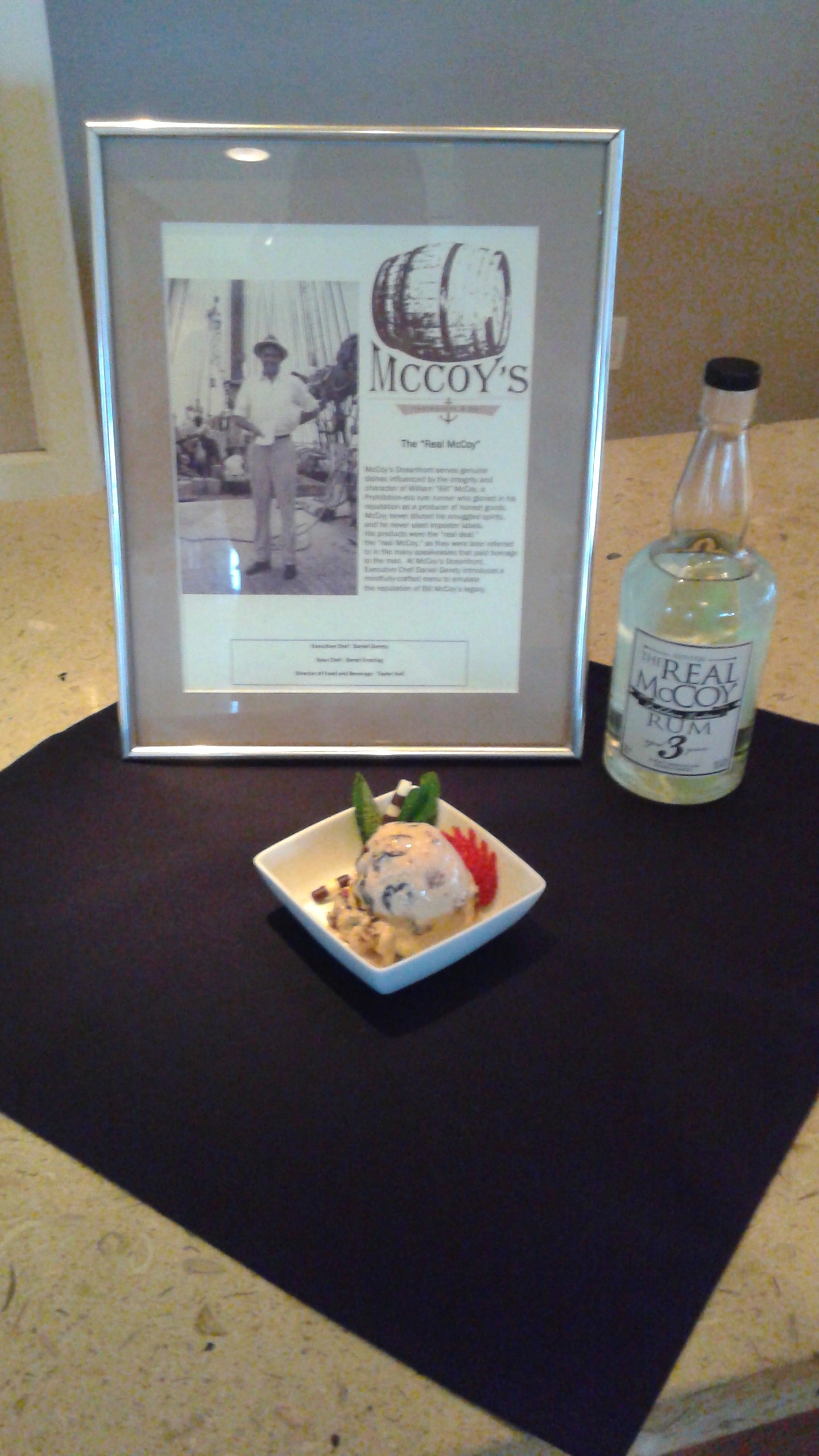 Fort Lauderdale Marriott Pompano Beach Resort and Spa - McCoys Rum and Sour Cherry Ice Cream