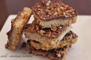 Chocolate Pecan Toffee Bars!