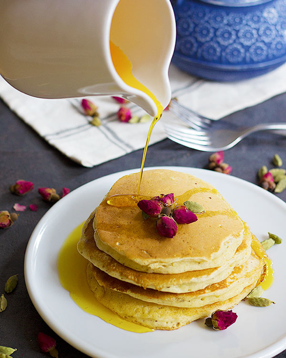 The best pancake recipes made with flower water sugar loco i have tried adding essential oils even flowers lavender to my sweet treats but a rose water pancake recipe showed me that i havent seen or tried it ccuart Image collections